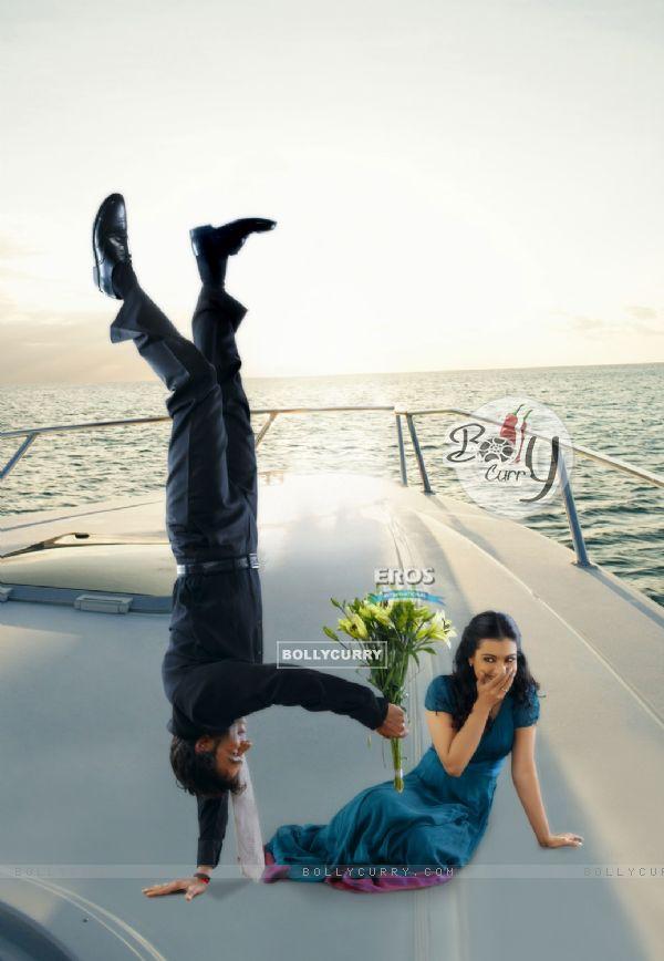 Ajay Devgan proposing Kajol