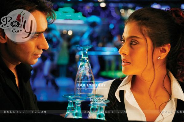 Ajay and Kajol looking in each other eyes