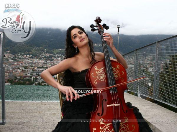 Katrina Kaif practising music in cello