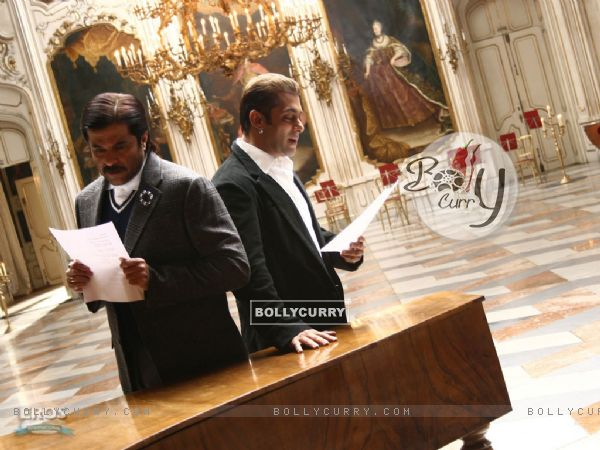 Anil Kapoor and Salman Khan reading a script