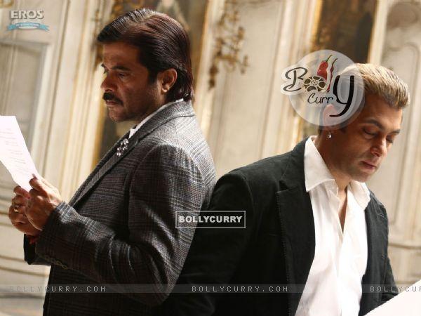 Anil and Salman reading a script
