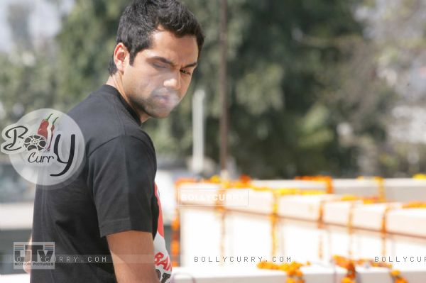 Abhay Deol with the smoke