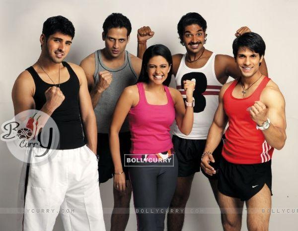 Mandira, Sammir, Purab, Bikram and Prashant are looking excited