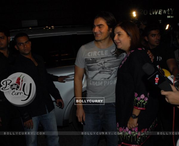Farah Khan and Arbaaz Khan at Nikhil Dwivedi's wedding Reception party at Escobar