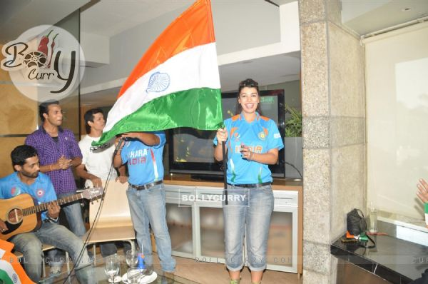world cup final 2011 celebration images. Mink Brar celebrate World Cup