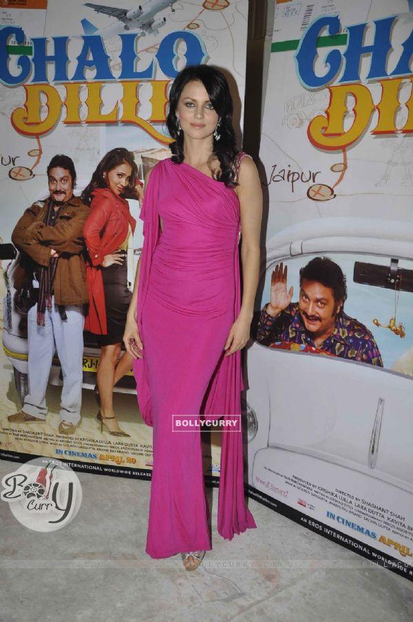 Yana Gupta promote Chalo Dilli at Mehboob Studio, Mumbai. .