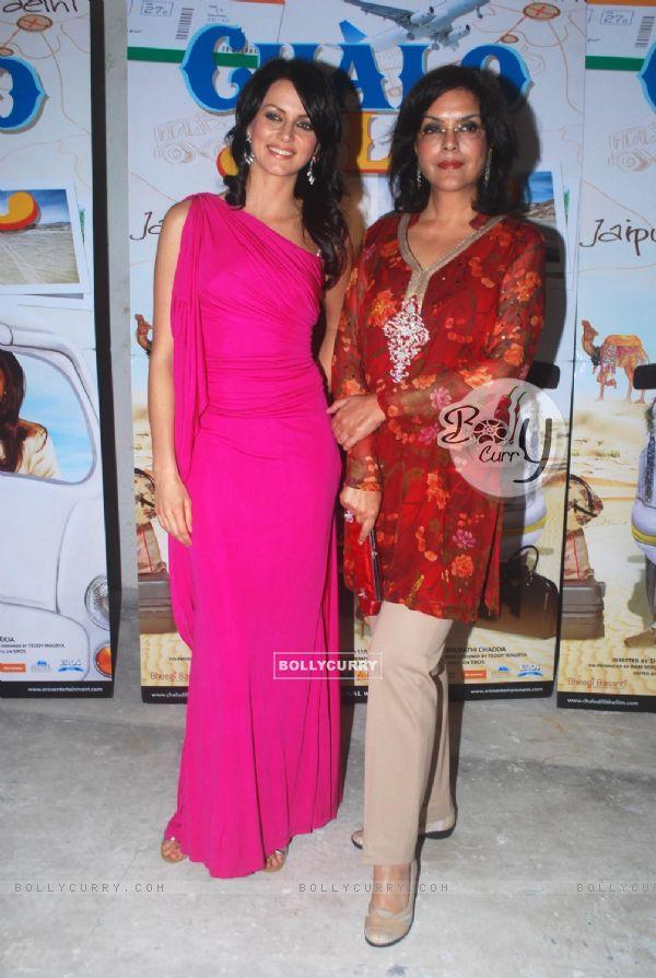 Zeenat Aman & Yana Gupta promote Chalo Dilli at Mehboob Studio, Mumbai