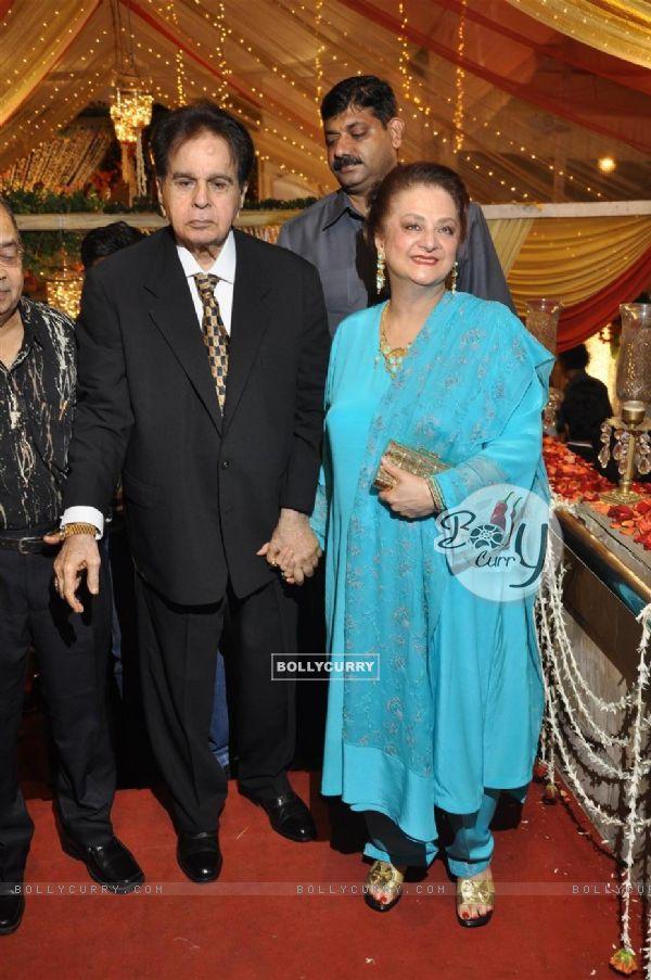 Dilip Kumar and Saira Banu at wedding reception party of Dr.Abhishek and Dr.Shefali Khar