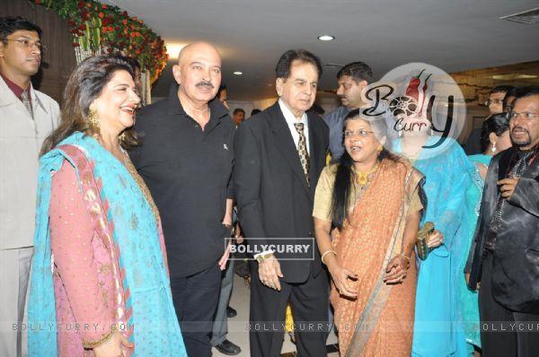Dilip Kumar, Saira Banu and Rakesh Roshan at wedding reception party of Dr.Abhishek and Dr.Shefali