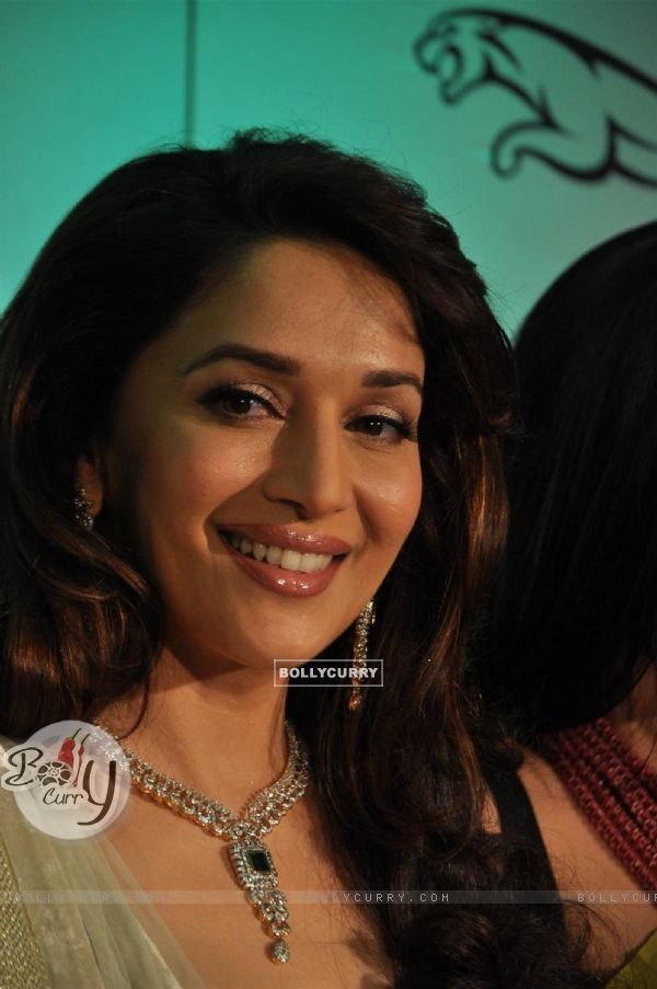 Madhuri during the launch of Gemfields �Emeralds for Elephants� Jewellery