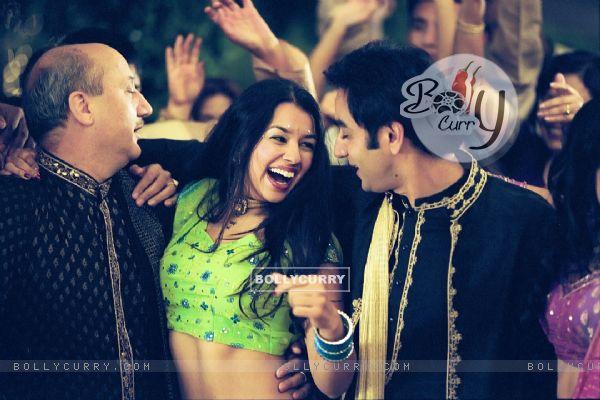 Anupam and Anubhav with a hot lady