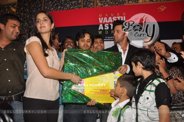 Hrithik and Katrina at the music launch of Main Krishna Hoon, Cinemax