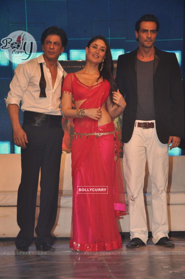 Shah Rukh Khan, Kareena Kapoor and Arjun Rampal on the Ra.One music launch