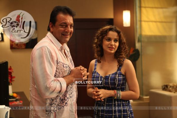 Kangna and Sanjay Dutt in the movie Rascals