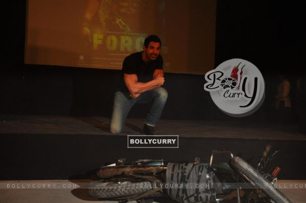 John Abraham during the promotion of their film 'Force' in Mumbai