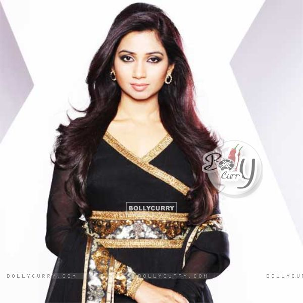 Shreya Ghoshal as a judge in show X Factor India