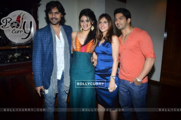 Amit Tandon with Gaurav and Mouni at the bash of Munisha Khatwani