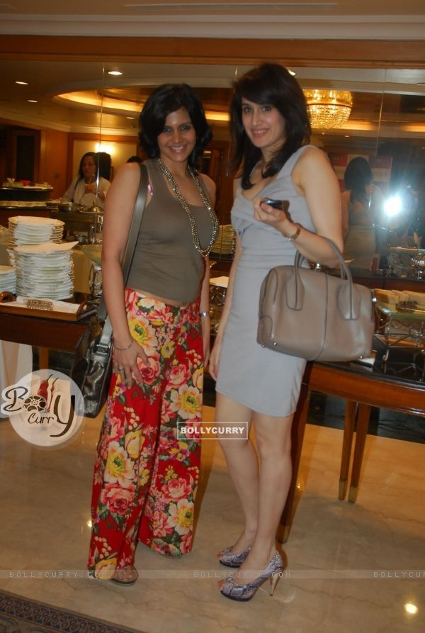 Mandira Bedi and Sagarika Ghatge at Olay launches Olay Regenerist in colaboration with Harpers Bazaa