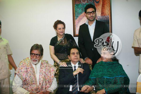 Saira Banu, Amitabh, Jaya and Abhishek Bachchan grace Dilip Kumar's 89th Birthday Party
