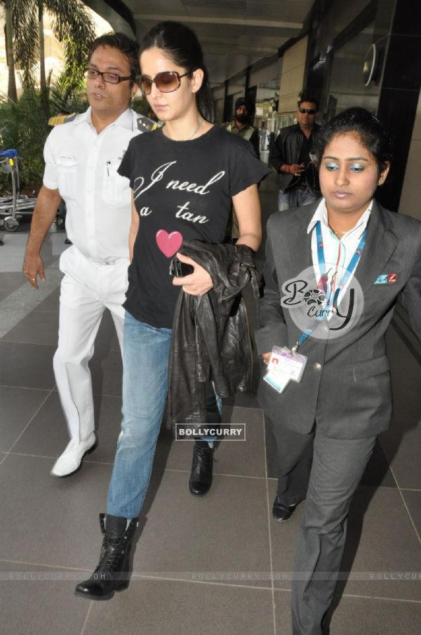 Bollywood actress Katrina Kaif snapped at Mumbai International Airport