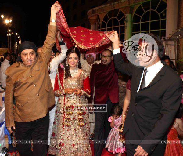 Danny Denzongpa Ranjeet Grace Deepshikha Nagpal Wedding Reception