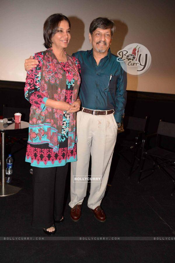 Shabana Azmi and Amol Palekar at Khamosh film screening