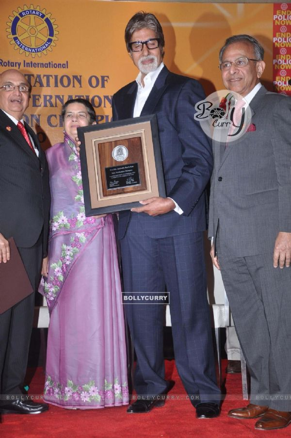 Amitabh Bachchan attends the Polio Eradication Champion Award ceremony