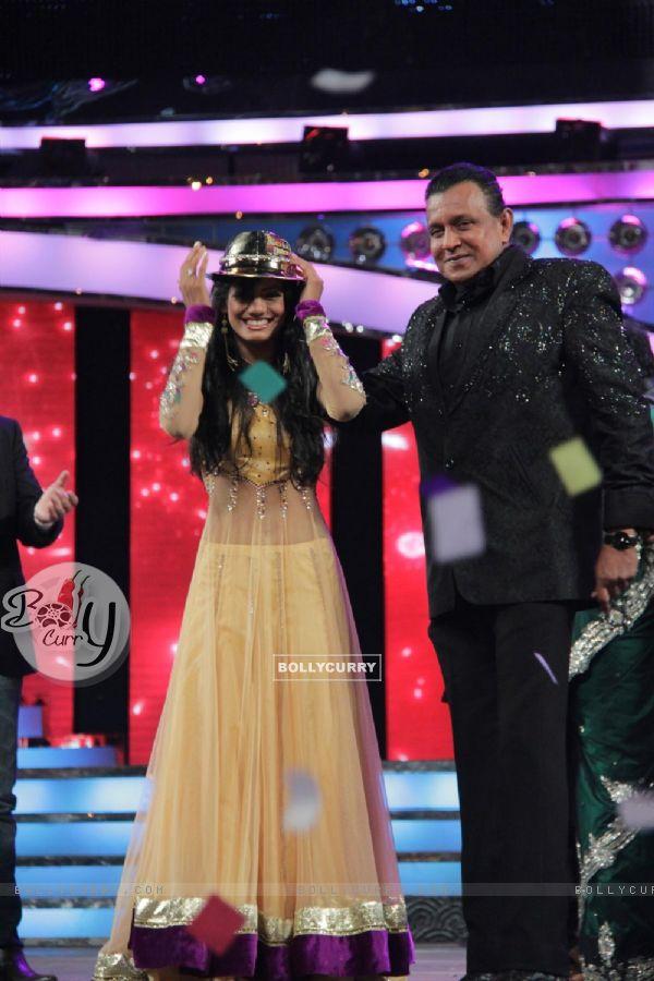 Rajasmita Kar and Mithun Chakraborty at Dance India Dance Season 3 Grand Finale in Mumbai