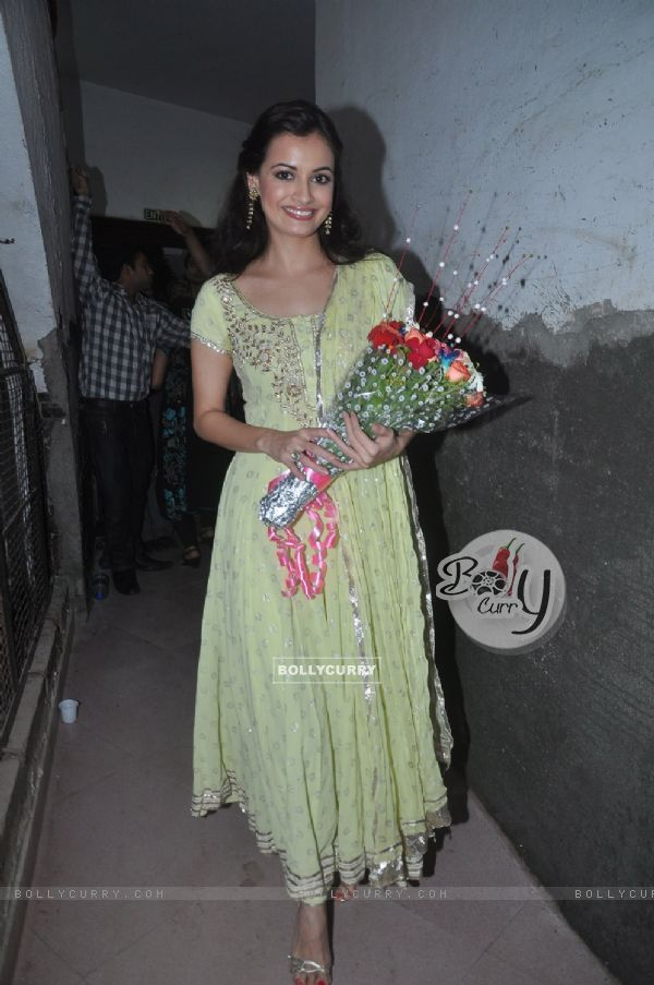 Dia Mirza at Laxmikant Pyarelal night