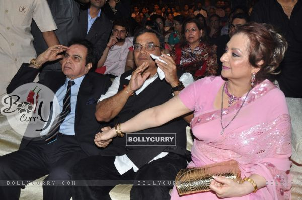 Dilip Kumar, Subhash Ghai and Saira Banu at Dadasaheb Phalke Academy Awards in Mumbai
