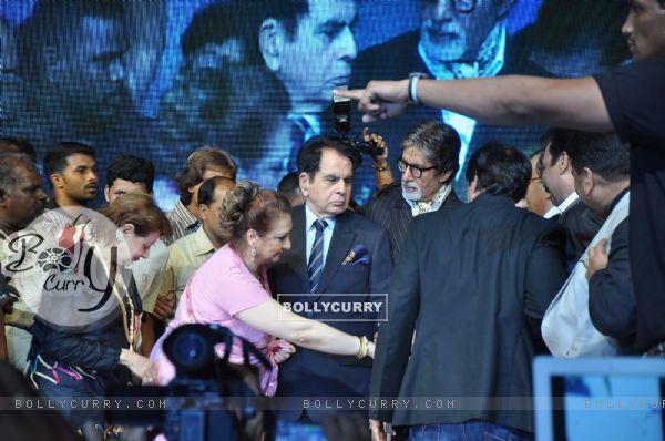 Amitabh Bachchan, Saira Banua and Amitabh Bachchan at Dadasaheb Phalke Academy Awards in Mumbai