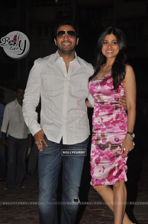 Raj Kundra and Shamita Shetty at Shilpa Shetty Baby Shower function