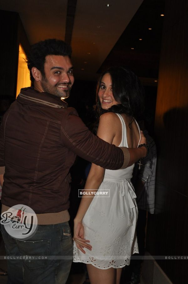 Vaishali Desai and Mimoh Chakraborty at Film Tukkaa Fitt first look launch at Hotel Novotel in Juhu