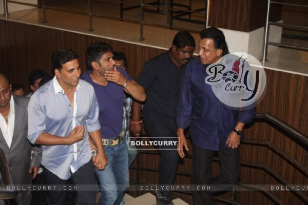 Akshay Kumar, Sunil Shetty and Mithun Chakraborty at Film Tukkaa Fitt first look launch