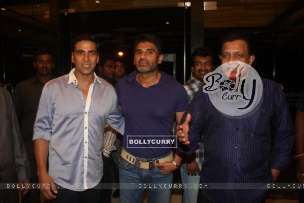 Akshay Kumar, Sunil Shetty and Mithun Chakraborty at Film Tukkaa Fitt first look launch
