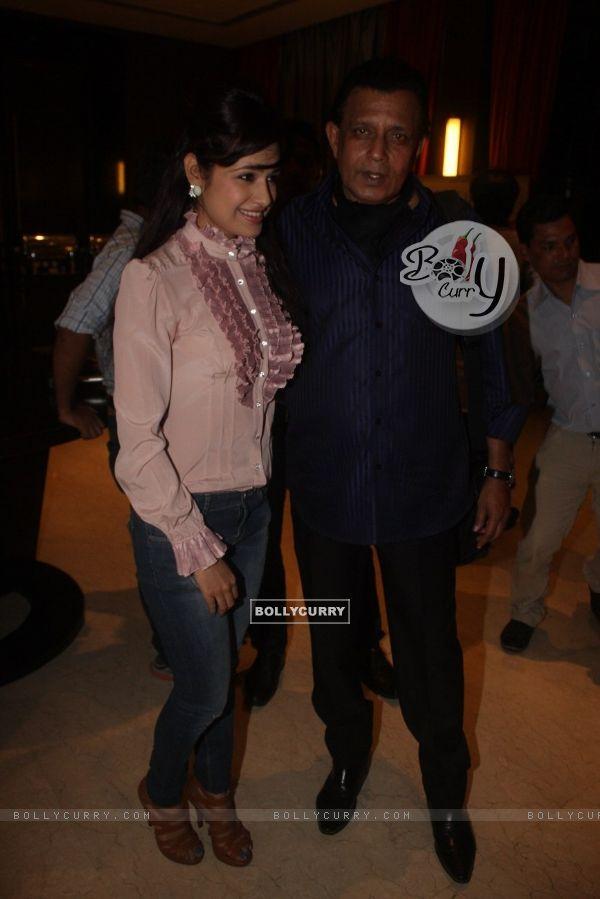 Yuvika Chaudhary and Mithun Chakraborty at Film Tukkaa Fitt first look launch