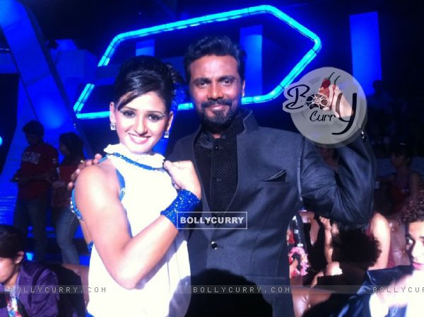 Shakti Mohan and Remo on the sets of Dance India Dance