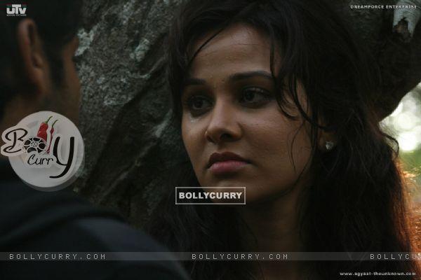 Nisha Kothari looking sad