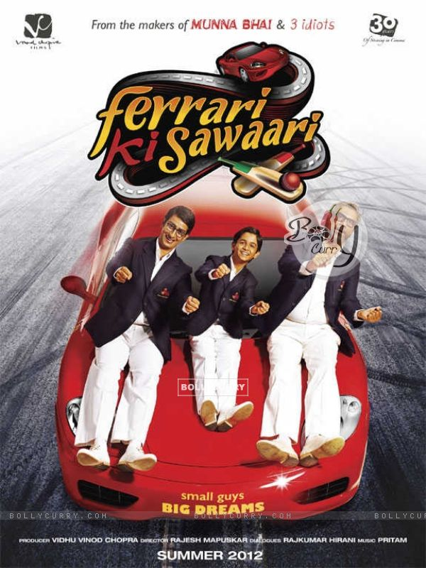 Sharman Joshi, Ritvik Sahore and Boman Irani in Ferrari Ki Sawaari