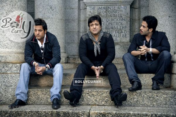 Govinda, Fardeen, Tusshar in movie Life Partner