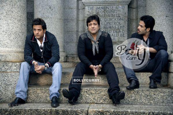Govinda, Fardeen, Tusshar in movie Life Partner