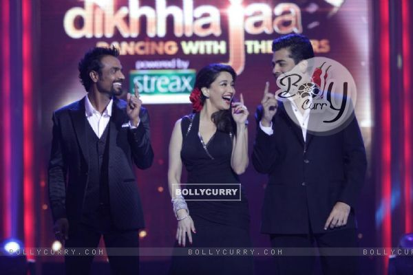 Madhuri, Karan and Remo on Jhalak