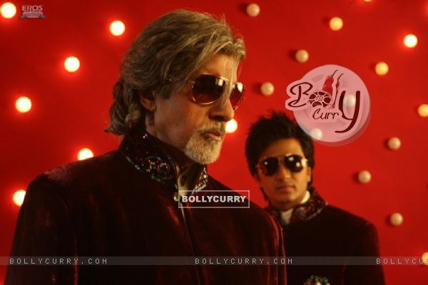 Amitabh Bachchan and Ritesh Deshmukh in Aladin movie