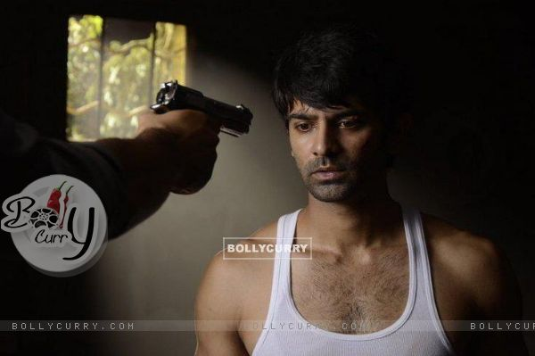 Barun Sobti during a shot
