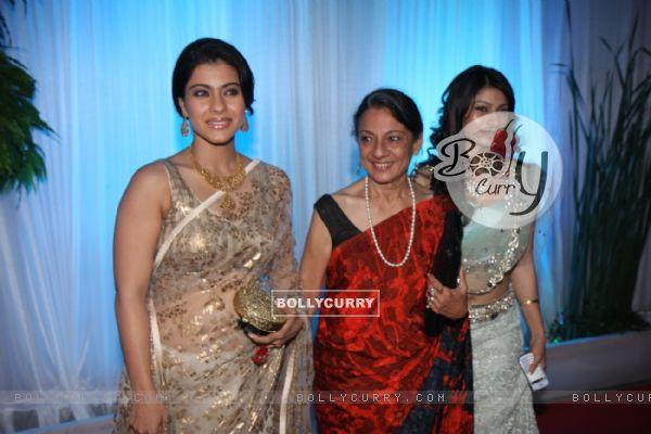 Kajol Tanuja And Tanisha Mukherjee At Esha Deols Wedding Reception