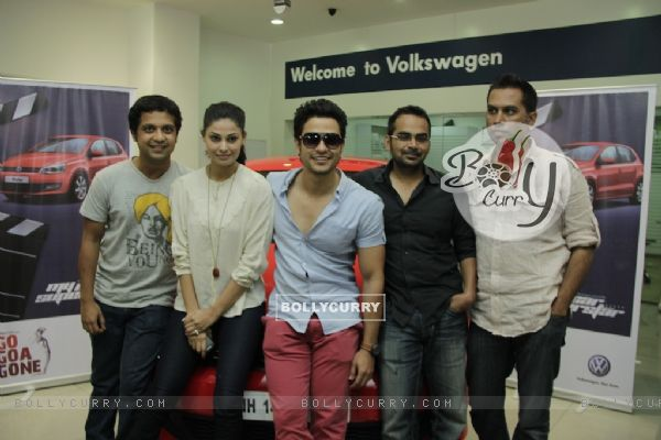 Kunal Khemu and Pooja Gupta promoting Movie Go Goa Gone