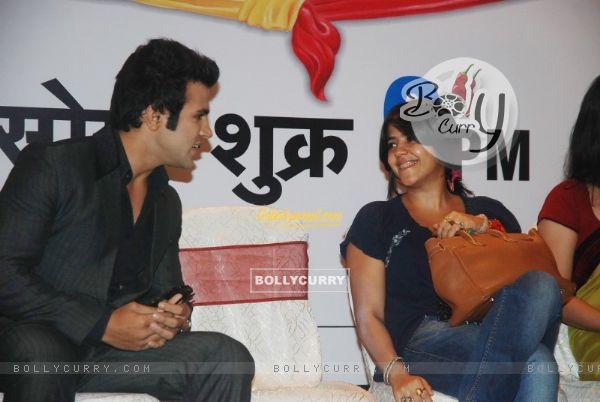 Rithvik Dhanjani with Ekta Kapoor