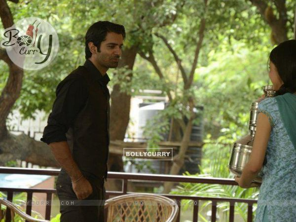 Barun Sobti and Sanaya Irani shooting