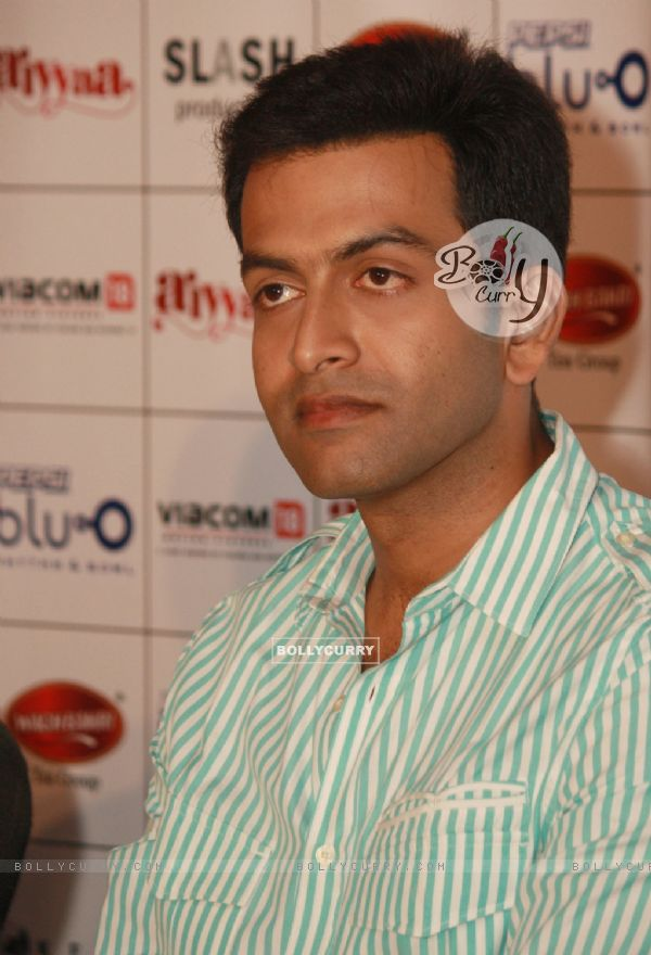 Malayalam film actor Prithviraj at a press meet to promote their film ...