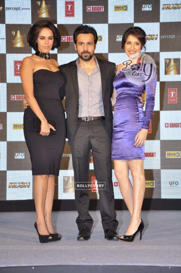 Neha Dhupia, Emraan Hashmi and Sagarika Ghatge and during the music launch of upcoming film Rush (230688)